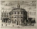 Sheldonian Theatre, Oxford; perspective view with the Bodlei Wellcome V0014255.jpg