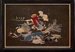 Shibata Zeshin. 1888. Plaque with decoration of the vegetable nehan. MFA Boston.jpg