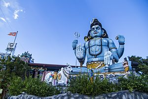 Hinduism in Sri Lanka - Shiva statue at Koneswaram temple.