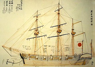 Imperial Japanese Navy - Shōhei Maru (1854) was built from Dutch technical drawings.