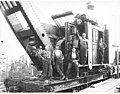 Side rod locomotive crane-loader, Clemons Logging Company, ca 1924 (KINSEY 103).jpg