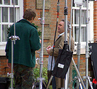 Kingdom (UK TV series) - Tony Slattery (right) as Sidney Snell during filming of the second series in 2007. To emphasise the character's unkempt nature, his costume is rarely changed.