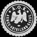 Siegelmarke A. O. K. Armee - Abteilung - Gaede W0225858.jpg