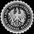 Siegelmarke Der Königl. Landrat des Kreises Bitburg W0309079.jpg