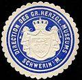 Siegelmarke Direction des Grossherzoglichen Museums - Schwerin - Mecklenburg W0235836.jpg
