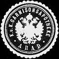 Siegelmarke K.u.K. Garnisonsapotheke Arad W0318185.jpg