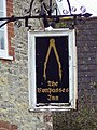 Sign for the Compasses Inn, Chicksgrove - geograph.org.uk - 310706.jpg