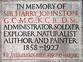 Sir Harry Johnston memorial plaque.JPG