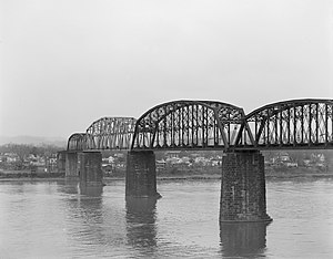 Parkersburg Bridge (CSX) - Sixth Street Railroad Bridge, 1973