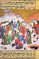 Siyer-i Nebi - Der bei der Schlacht von Uhud verletzte Muhammad im Kreis seiner getreuen, die überlebt haben.jpg