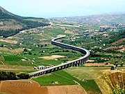 The A29, passing through the countryside near Segesta.