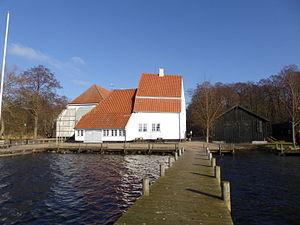 Skipperhuset - The Skipperhuset buildings viewed from the jetty