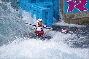 Slalom canoeing 2012 Olympics W K1 GBR Lizzie Neave (3).jpg