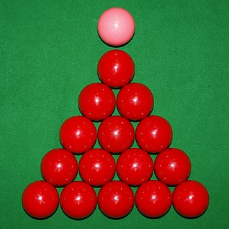 Rules of snooker - Image: Snooker Reds with Pink