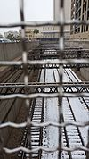 Snow on El Paso Railroad tracks