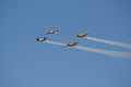 Socata TB-30 Epsilon leads Beech T-34B Mentors Diamond Pass 01 TICO 13March2010 (14597570604).jpg