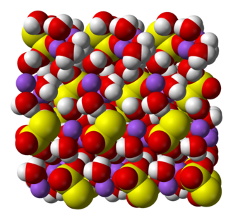 Sodium thiosulfate - Image: Sodium thiosulfate pentahydrate xtal 3D vd W