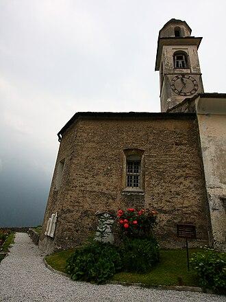 Soglio, Switzerland - Village church of Soglio