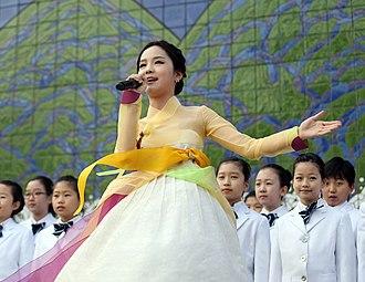 Arirang - Image: Song So Hee performing Arirang