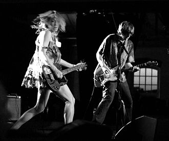 Experimental rock - Sonic Youth perform in Sweden in 2007.
