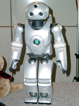 Presentation of the Sony Qrio Robot at the RoboCup 2004.