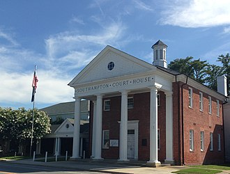 Southampton County, Virginia - Image: Southampton VA courthouse