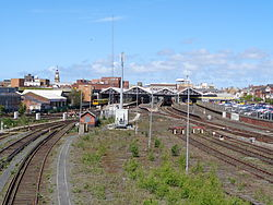 Southport railway station from the Victoria Bridge (1).jpg