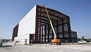 SpaceX KSC LC-39A hangar progress, April 2015 (16851653497)