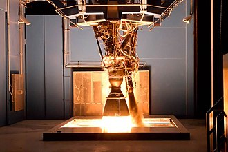 Merlin (rocket engine family) - Test firing of the Merlin 1D at SpaceX McGregor's test stand