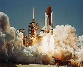 Challenger is launched on its first mission, STS-6