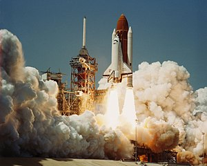 Space Shuttle Challenger - Challenger is launched on its first mission, STS-6