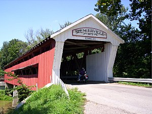 Spencerville, Indiana - West portal of the Spencerville Covered Bridge
