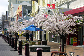 Invercargill - Spring in Esk Street, Invercargill