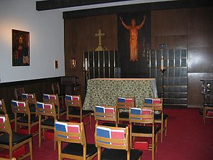 Oratory (worship) - The oratory of the Cathedral Church of Saint Matthew, Dallas, Texas.