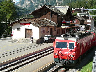 St. Niklaus, Switzerland - St. Niklaus train station