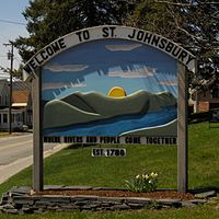 St. Johnsbury Welcome sign