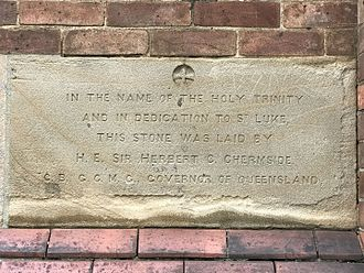 St Luke's Church of England, Brisbane - Foundation stone, 2017