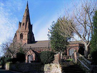 St Marys Church, Eastham Church in Merseyside, England