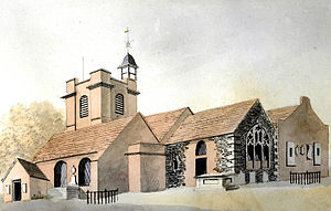 St Mary's Parish Church, Hampton - The original church, demolished in 1830