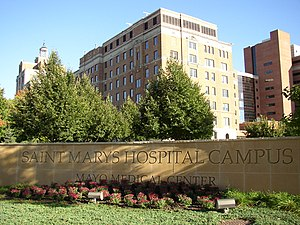 Mayo Clinic Hospital, Saint Mary's Campus - Mayo Clinic Hospital - Rochester, Saint Marys Campus, Rochester, Minnesota.