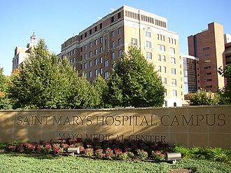 Mayo Clinic Hospital, Saint Mary's Campus - Mayo Clinic Hospital - Rochester, Saint Marys Campus, Rochester, Minnesota.
