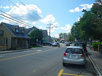 Saint-Sauveur, Quebec - Image: St Sauveur rue Principale
