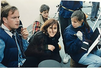 Stacy Cochran - On the set of Boys, from left: Eric Heffron, Demmie Todd, Stacy Cochran, Julie Oppenheimer