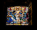 Stained glass window in clerestory of old Basilica of Our Lady of Guadulupe, Mexico City.jpg