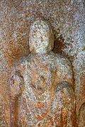 Standing Buddha Triad Carved on the Rock in Donmun-ri, Taean 03.JPG