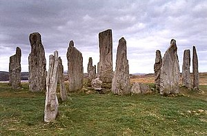 Architecture of Scotland in the Prehistoric era - The Callanish Stones, one of the finest stone circles in Scotland