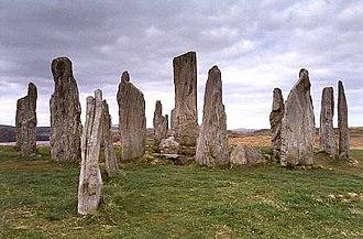 Architecture of Scotland in the Prehistoric era - The Callanish Stones, one of the finest stone circles in Scotland