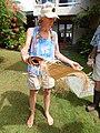 Starr-140925-1953-Musa textilis-Angela with woven skirt-Pali o Waipio Huelo-Maui (24615870994).jpg