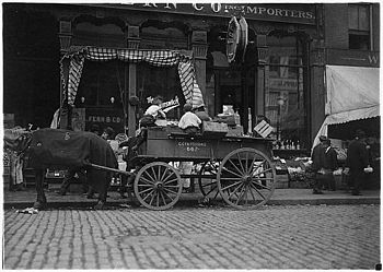 Starting in business early. Selling vegetables in the market. Boston, Mass. - NARA - 523224