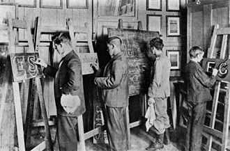 Easel - Brisbane Technical College Signwriting class, ca. 1900